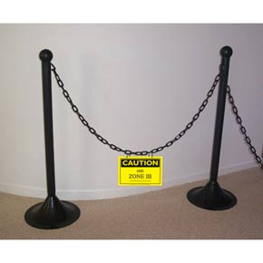 Stanchions w/chains